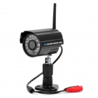 "2,4 GHz 1/4 ""CMOS 300KP Wireless Security Camera w / 24-IR-LED Night Vision - Schwarz"
