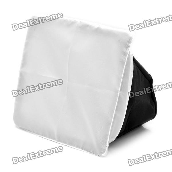 Folding Rectangle Speedlight Flash Soft Box for Sony / Canon / Nikon Cameras + More - Black