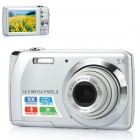 "14MP Digital Camera with 5X Digital Zoom / 5X Optical Zoom / SD Slot - Silver (2.7"" LCD)"