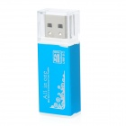 SIYOTEAM USB 2.0 Multi in One Memory Card Reader - Blue (Max. 32GB)