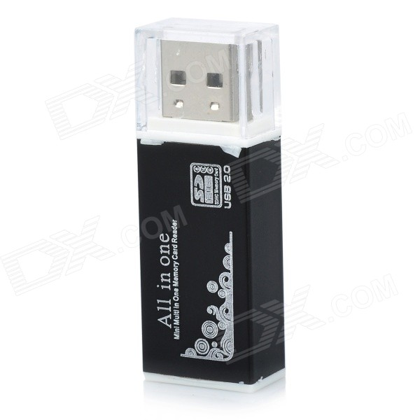 SIYOTEAM USB 2.0 Multi in One Memory Card Reader - schwarz (max. 32GB)