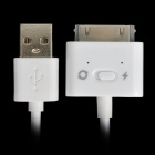 2-in-1 USB Data / Charging Cable for iPad / iPod / iPhone - White (1 M)