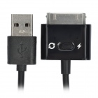 2-in-1 USB Data / Charging Cable for iPad / iPod / iPhone - Black (1 M)