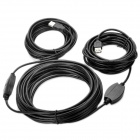 USB 2.0 Male to Female Extension Cable w/ Signal Amplification Chip - Black (20M)