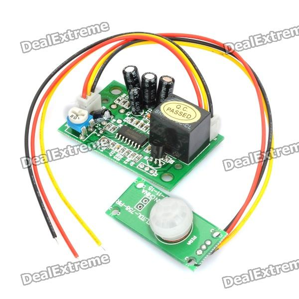 IR Infrared Motion Detector Sensor Module - Green (DC 5~24V) 1pcs current detection sensor module 50a ac short circuit protection dc5v relay