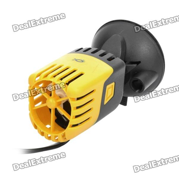 цены 3W Aquarium Fish Tank Wave Maker - Black + Yellow (AC 220~240V / 2-Flat-Pin Plug)