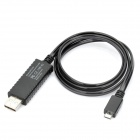 Universal Visible Flowing Current USB Data/Charging Cable for Micro USB Devices - Black