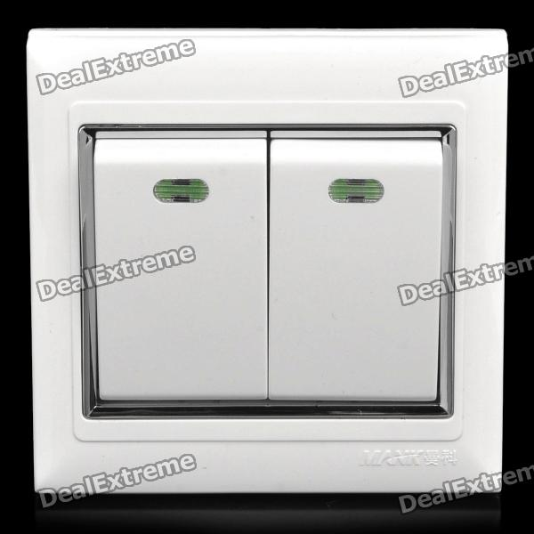 86 Wall Mount Dual Switches Dual Control Panel - White (AC 250V) original inverter control panel fr du04