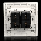 86 Wall Mount Dual Switches Dual Control Panel - White (AC 250V)