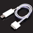 Visible Flowing Charger Cable for Apple iPhone / iPad / iPod - Purple + White