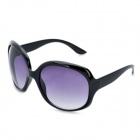 Stylish Lady's Round UV 400 Protection Sunglasses - Black