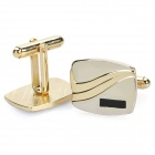 Charming Metal Apparel Button Cuff Links - Golden (Pair)