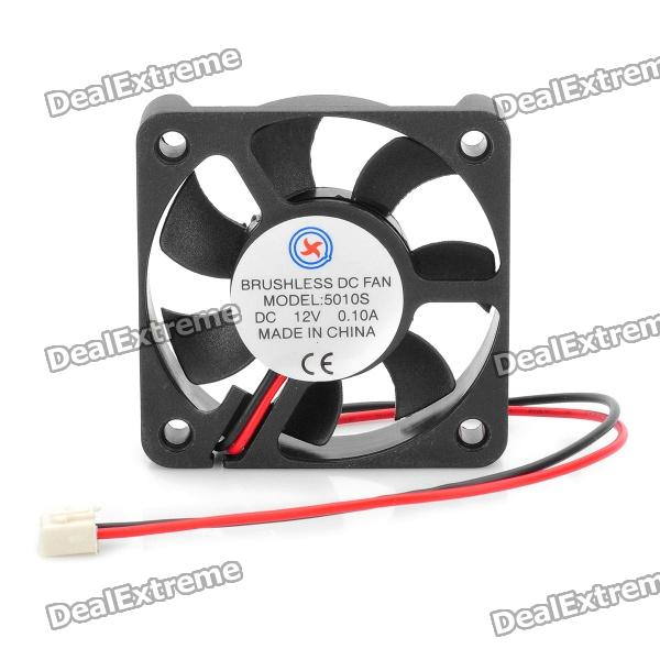 5010S DC 12V 0.1A Brushless Cooling Fan (4.2cm-Diameter) картридж hp 72 желтый [c9400a]