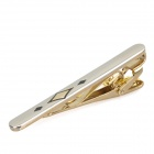 Charming Tie Pin / Clip - Silver + Golden