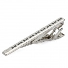 Charming Tie Pin / Clip - Silver + Black