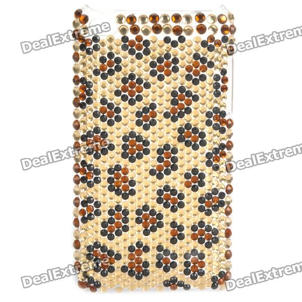 Fashion Acrylic Diamond Protective Back Case for Ipod Touch 4 - Black + Brown