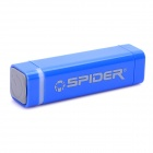 Portable 2200mAh Emergency Battery Charger w/ Apple 30 pin / Micro USB Adapter - Blue