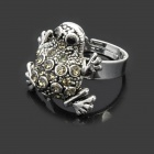Cute Frog Style Zinc Alloy Open Ring - Silver