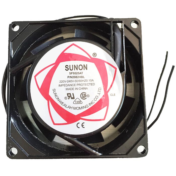 SF8025AT AC 220~240V 100mA Cooling Fan - Black (7.8cm-Diameter) от DX.com INT
