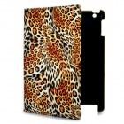 Fashion Leopard Print Protective PU Leather Case w/ Swivel ABS Back Holder for New Ipad - Yellow