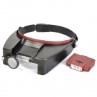Headband Type Magnifier with 2-LED White Light (3 x AAA)