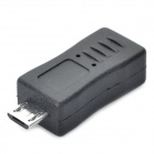 Mini USB Female to Micro USB Male Adapter - Black