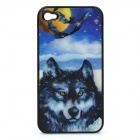 3D Wolf Style Protective Cover Case for Iphone 4/4S