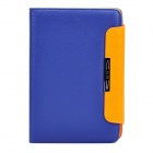Protective PU Leather Flip-Open Holder Case for Samsung P6800 - Blue + Orange
