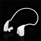 Stylish Sports Rechargeable MP3 Music Player Headset - White (2GB)