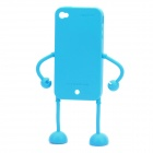 Robot Style Protective Silicone Case for iPhone 4 / 4S - Blue