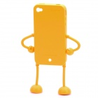 Robot Style Protective Silicone Case for iPhone 4 / 4S - Orange