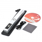 "0.8"" LCD Cordless Handheld A4 Handy Scanner with TF Card Slot - Silver (2 x AAA)"