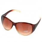 Stylish Plate Frame Resin Lens UV 400 Protection Sunglasses - Gradual Tan