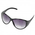 Stylish Plate Frame Resin Lens UV 400 Protection Sunglasses - Black