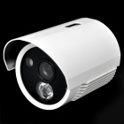 "1/3"" Sony CCD 1.3MP Surveillance Security Camera w/ 1-IR LED Night Vision - White"