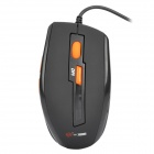 MCSAITE USB Wired 1000 / 1600DPI Optical Mouse - Black (150cm-Cable)