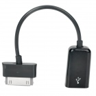 / USB OTG Connection Cable for Samsung P6200 / P6800 / P7500 / P7300 - Black (8cm)