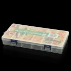 Fishing Gear Fishing Gadgets Storage Case Box with 6 Main Compartment - Transparent White