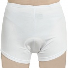 Cycling Bicycle Bike Riding Underpants - White (Size L)