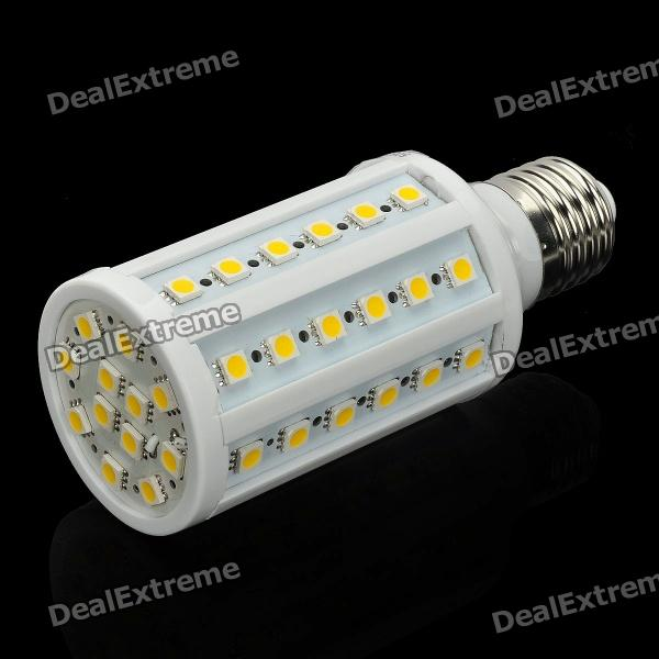 E27 12W 700-800LM 3000-3200K Warm White 60-SMD 5050 LED Light Bulb (110V) singfire 800lm white light led emitter