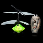 Indoor UFO Mini Flying Saucer Spaceship Toy w/ Charger and Remote Controller - Green + Black