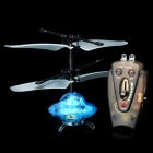 Indoor UFO Mini Flying Saucer Spaceship Toy w/ Charger and Remote Controller - Blue + Black