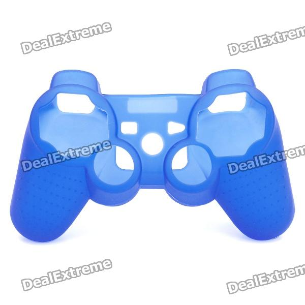 Protective Silicone Case for PS3 Wireless Controller - Blue protective silicone case for ps2 ps3 controller forest camouflage