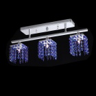 Modern Crystal Pendant Light with 3 Lights (Blue / AC 220-240V)