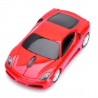 Ferrari Car Style Wireless Optical Mouse - Red (2 x AAA)