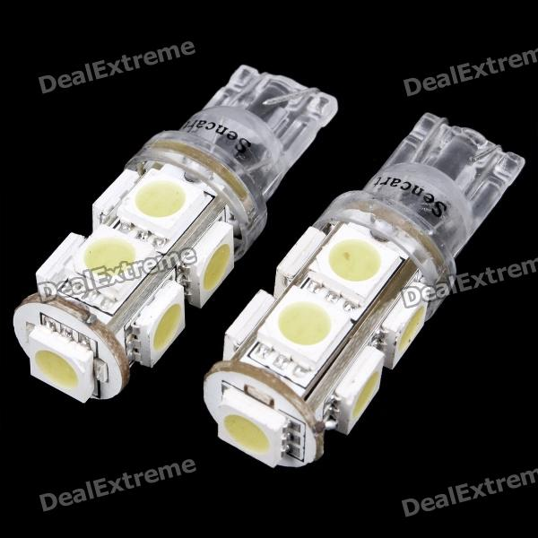 T10 1.8W 6500K 150-Lumen 5050 9-SMD LED White Light Lamps (DC 24V)