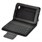 Bluetooth V3.0 82-Key Keyboard with Protective PU Leather Case for Samsung P6200 / P6210 - Black
