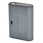 Rechargeable 5000mAh Mobile Power Pack for PS Vita with White Light LED Flashlight - Iron Grey