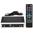 1080P HD DVB-S2 Digital Satellite TV Box Receiver w/ HDMI / TV SCART / COAXIAL - Silver + Black