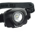 1+1 1W White LED + Red 3-Mode LED Headlamp (3*AAA)